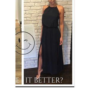 H&M maxi summer dress with a split